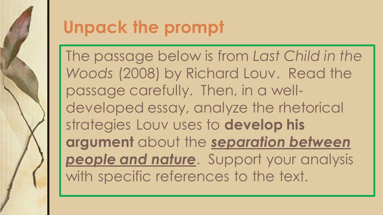 Unpack the prompt