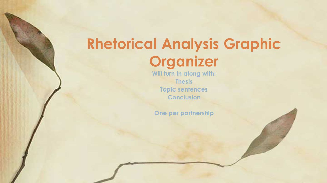 Rhetorical Analysis Graphic Organizer