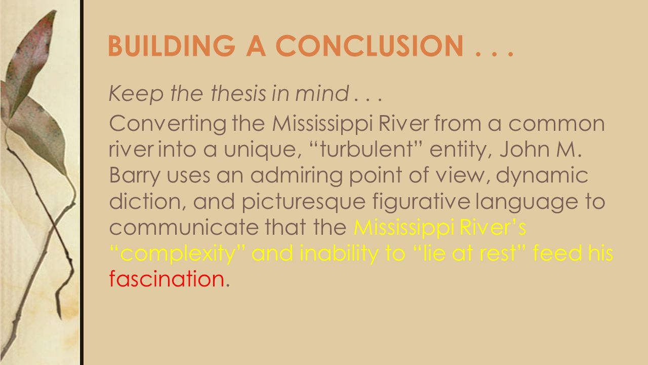j.m. barry fascination with the river essay Eastern connecticut state university is a public, coeducational liberal arts university in willimantic, connecticut.