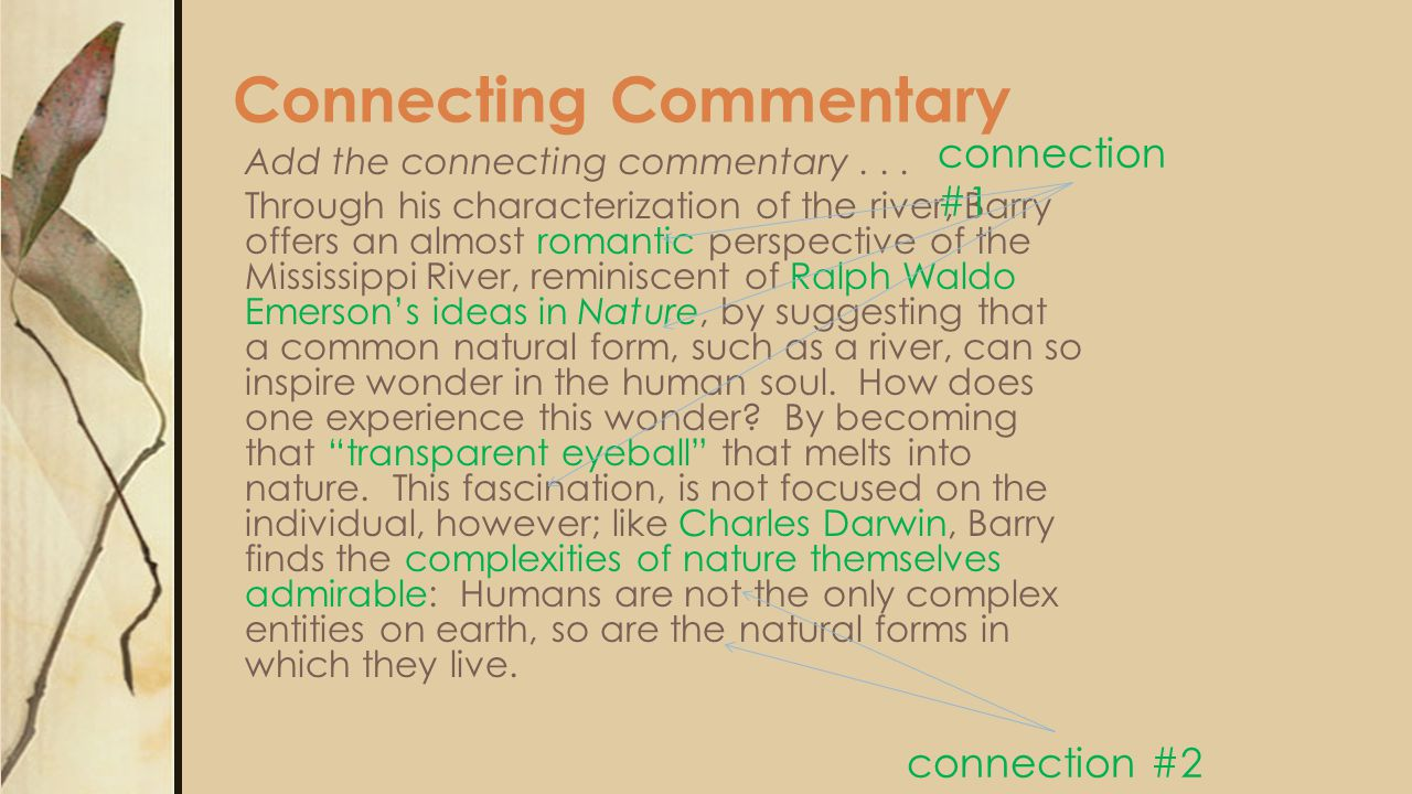 Connecting Commentary