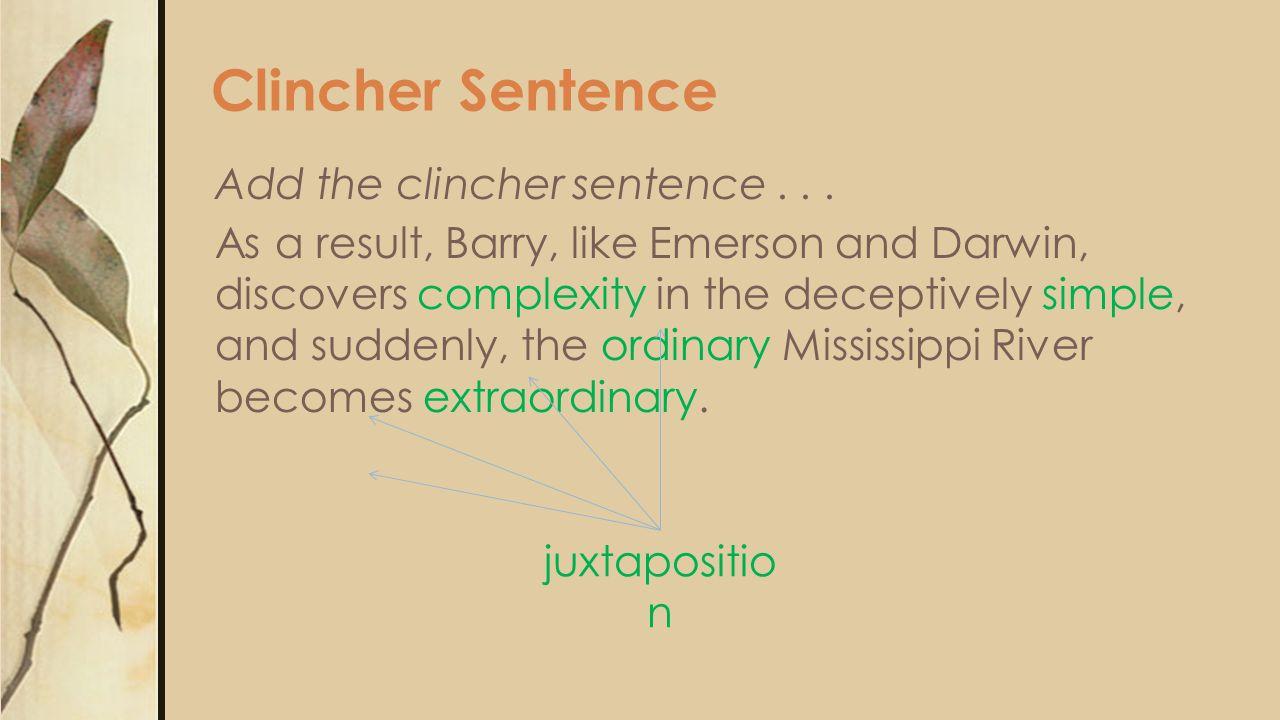 Clincher Sentence