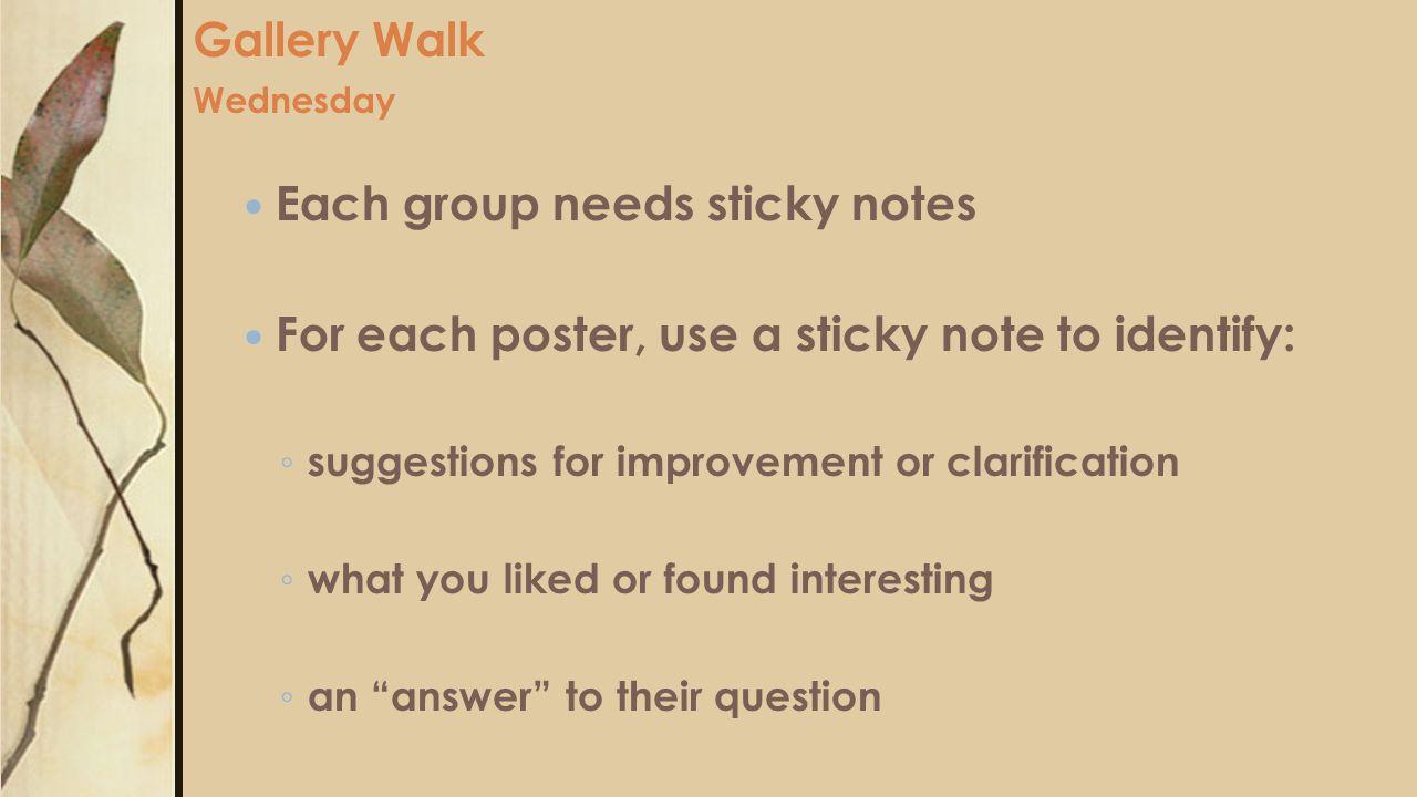 Gallery Walk Wednesday