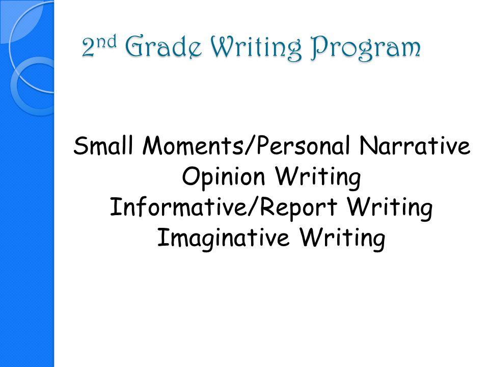 2nd Grade Writing Program