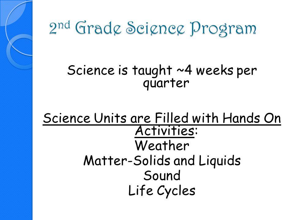 2nd Grade Science Program