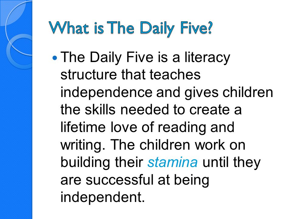 What is The Daily Five