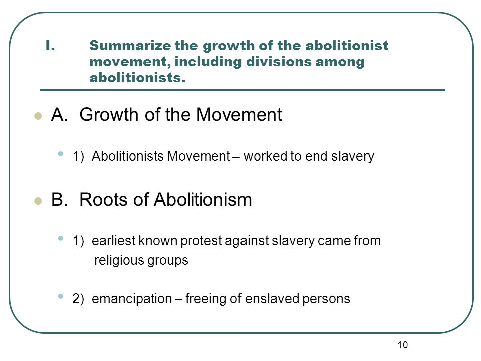 A. Growth of the Movement