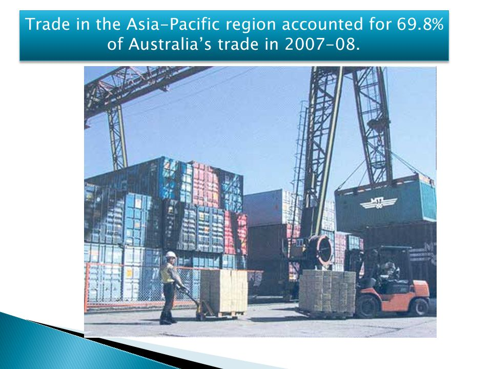 Trade in the Asia-Pacific region accounted for 69