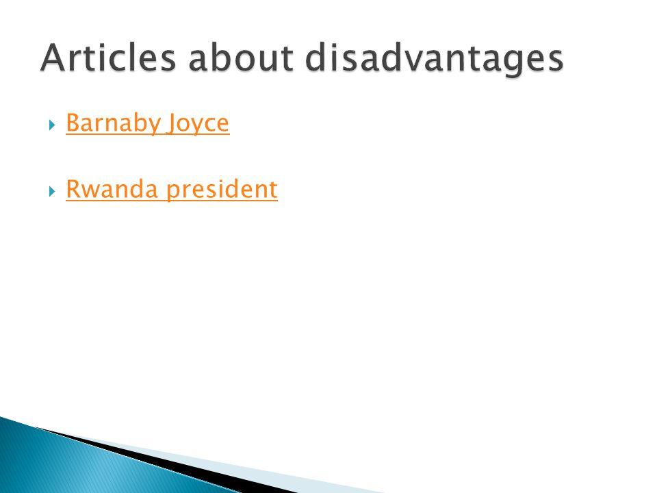 Articles about disadvantages