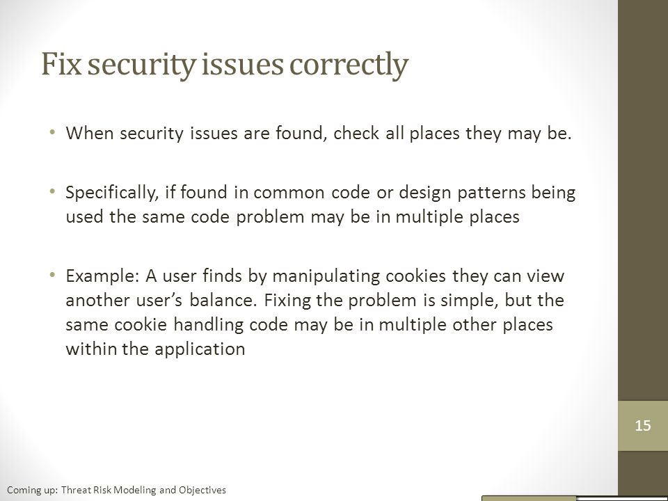 Fix security issues correctly