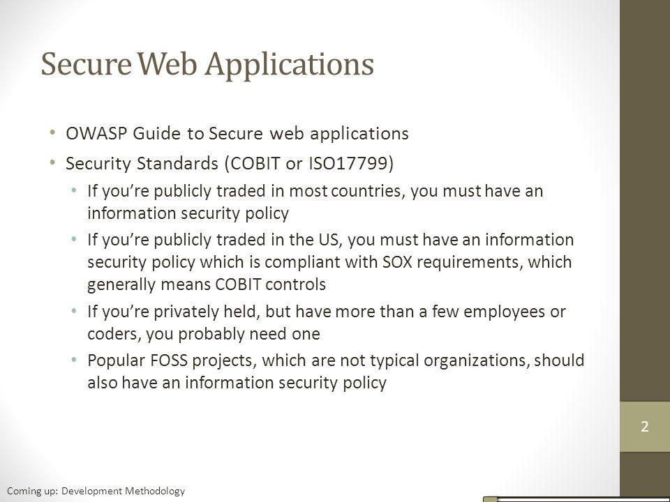 Secure Web Applications