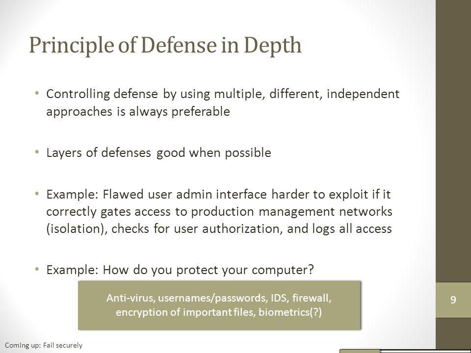 Principle of Defense in Depth