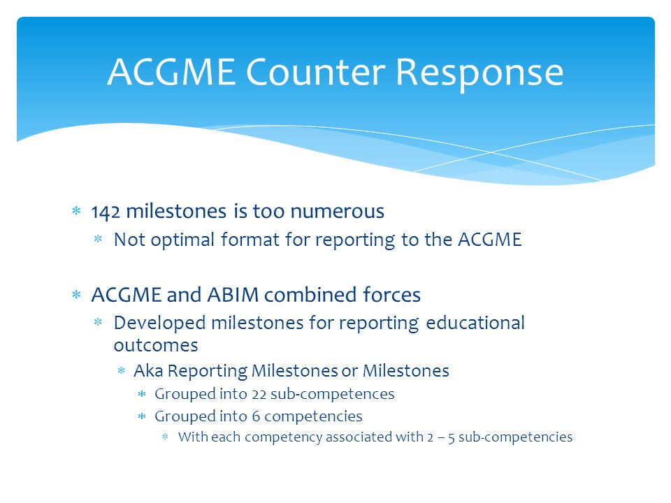 ACGME Counter Response