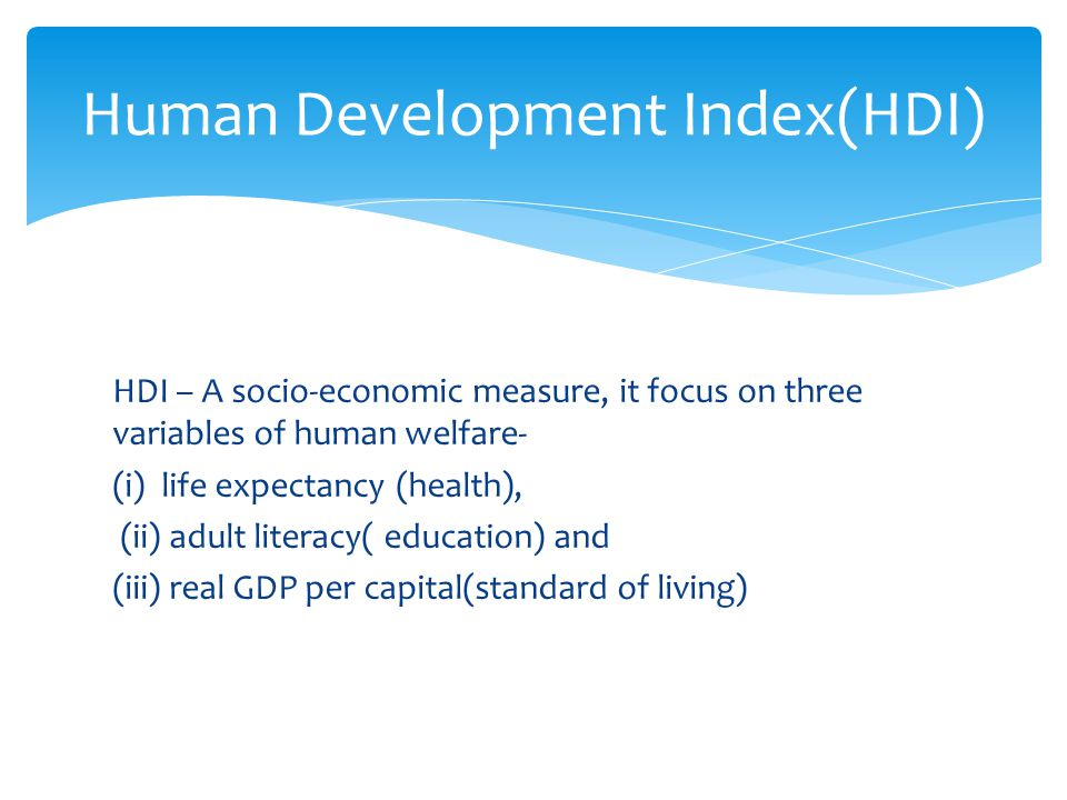 Human Development Index(HDI)