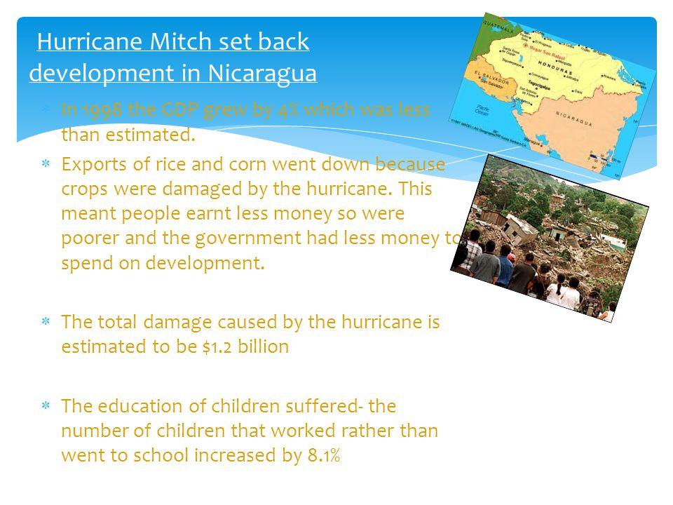 Hurricane Mitch set back development in Nicaragua