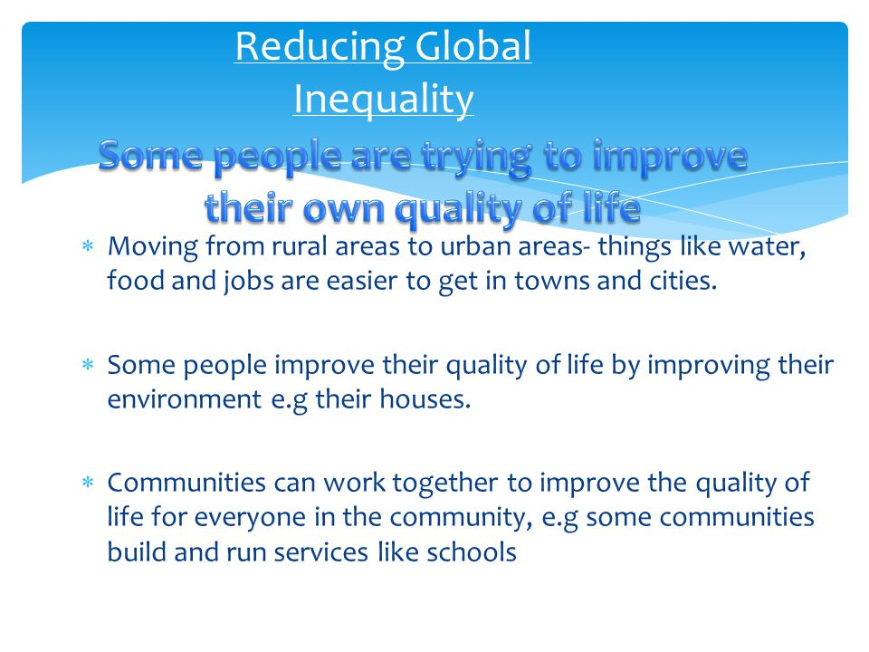 Reducing Global Inequality