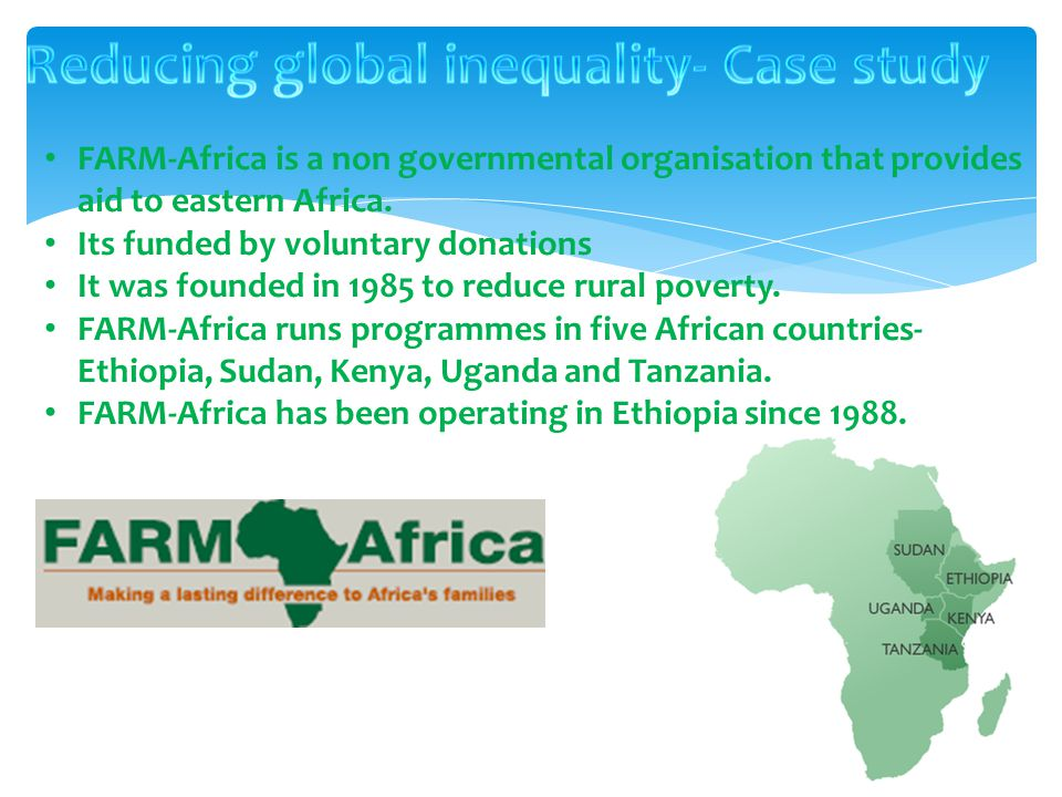 Reducing global inequality- Case study