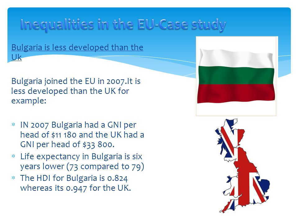 Inequalities in the EU-Case study