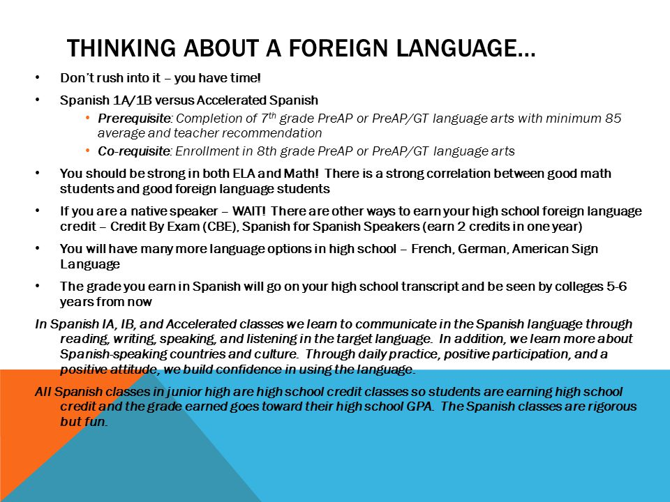 Thinking about a foreign language…
