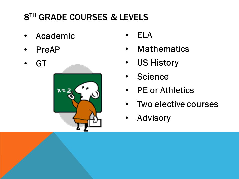 8th Grade Courses & Levels