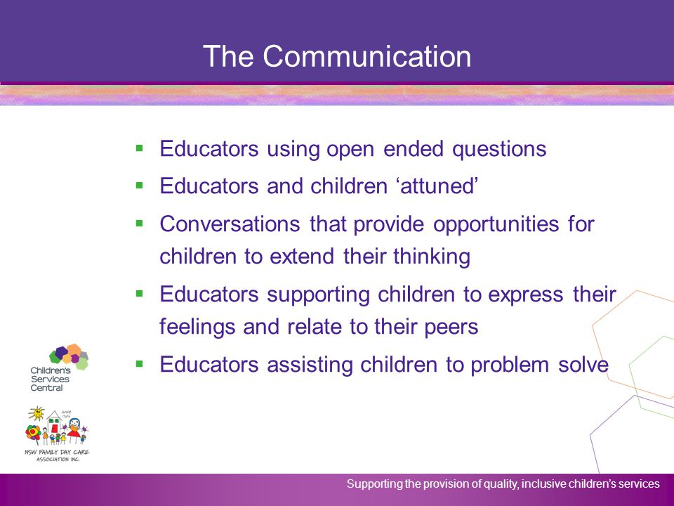 The Communication Educators using open ended questions