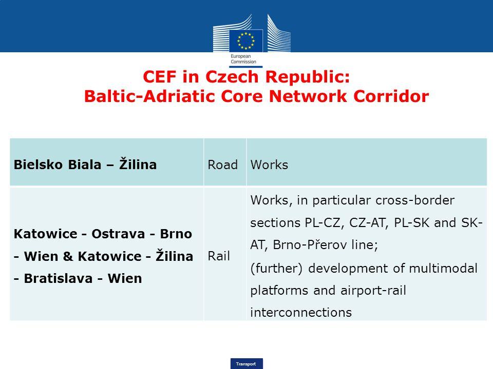 CEF in Czech Republic: Baltic-Adriatic Core Network Corridor