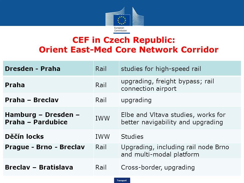CEF in Czech Republic: Orient East-Med Core Network Corridor
