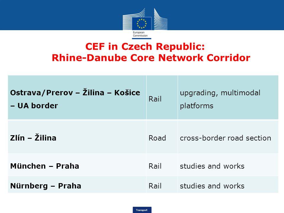 CEF in Czech Republic: Rhine-Danube Core Network Corridor