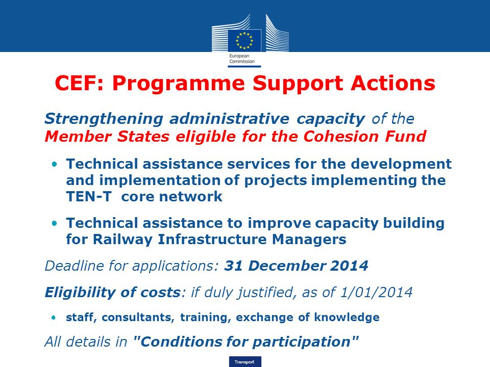 CEF: Programme Support Actions
