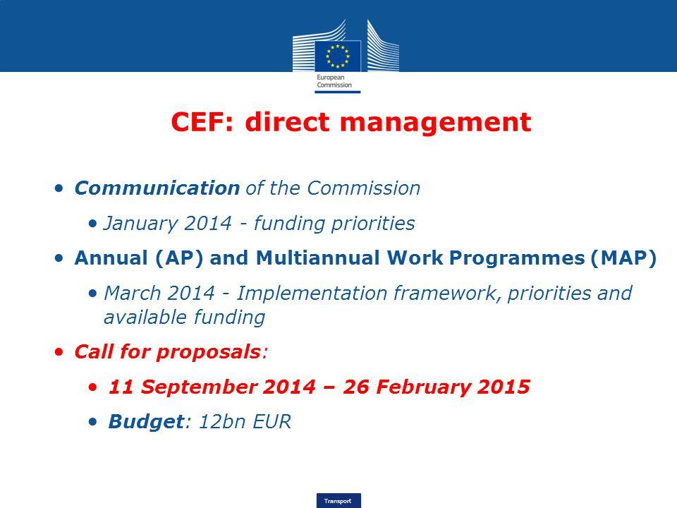 CEF: direct management