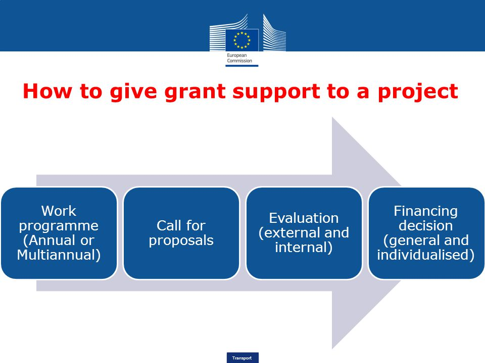 How to give grant support to a project