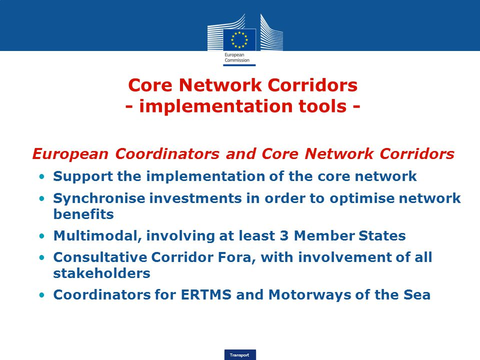 Core Network Corridors - implementation tools -