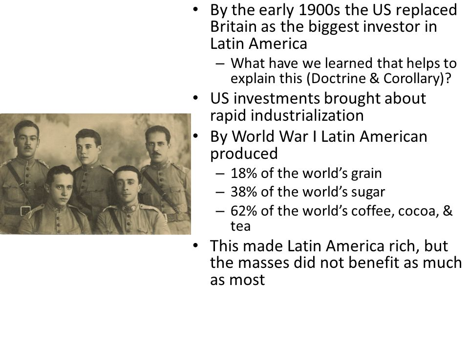 US investments brought about rapid industrialization