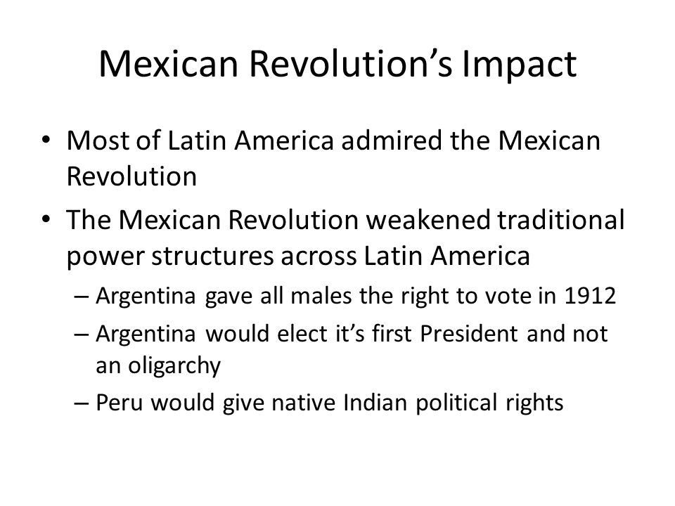 Mexican Revolution's Impact