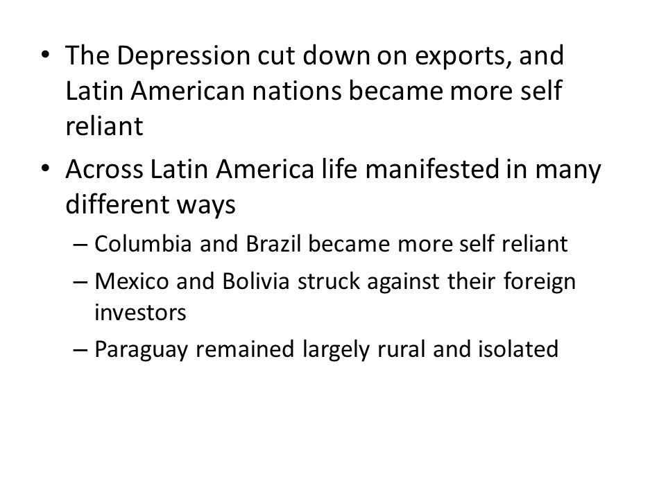 Across Latin America life manifested in many different ways