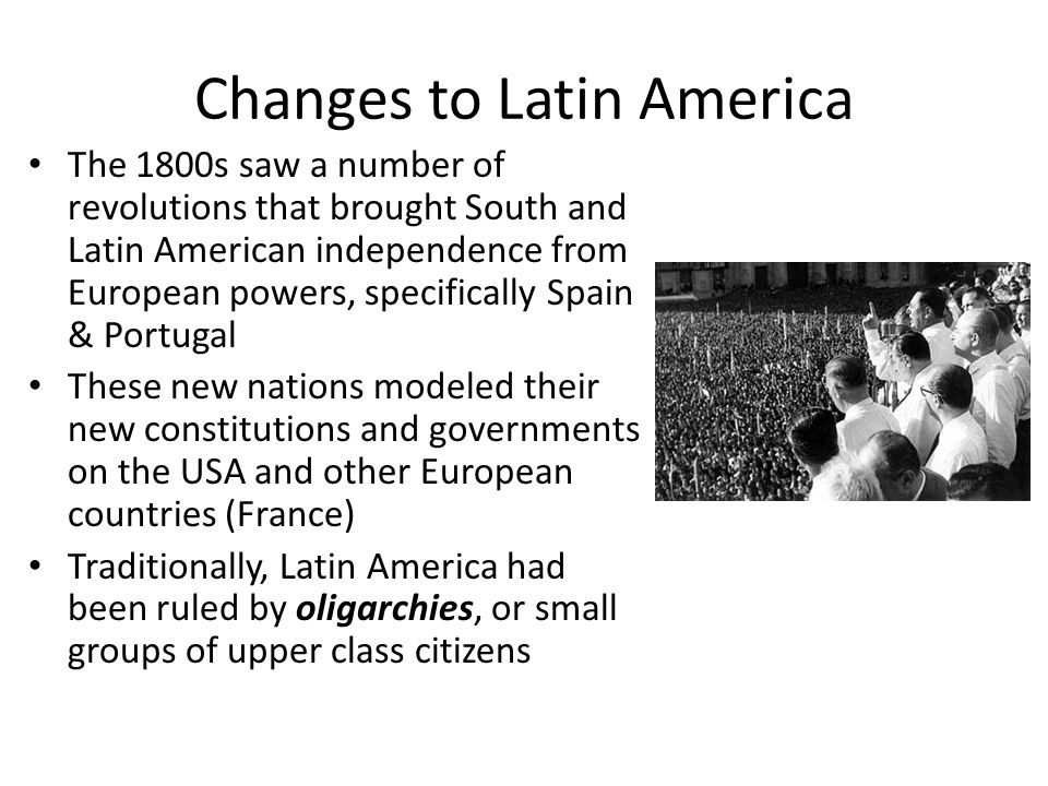 Changes to Latin America