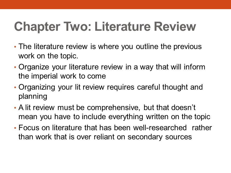 Chapter Two: Literature Review
