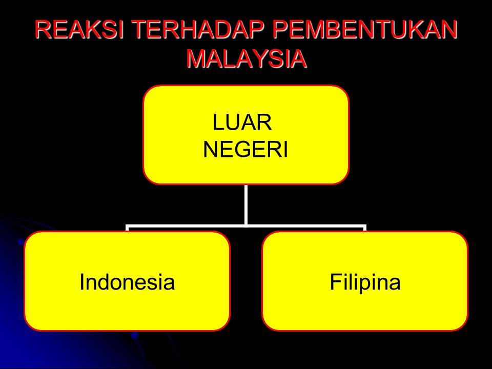 REAKSI TERHADAP PEMBENTUKAN MALAYSIA