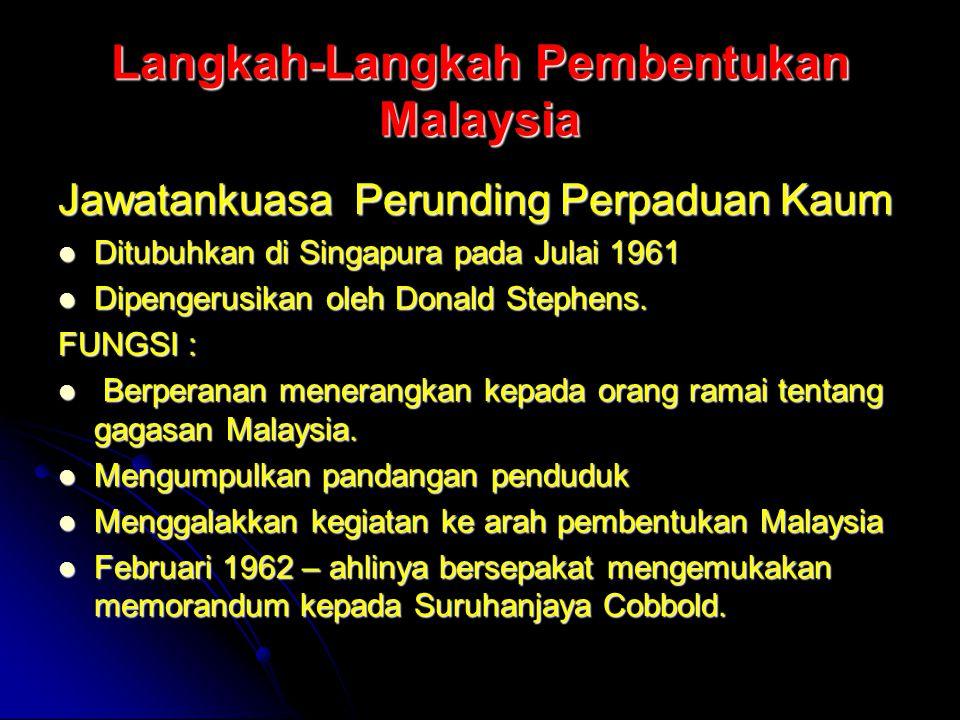 Langkah-Langkah Pembentukan Malaysia