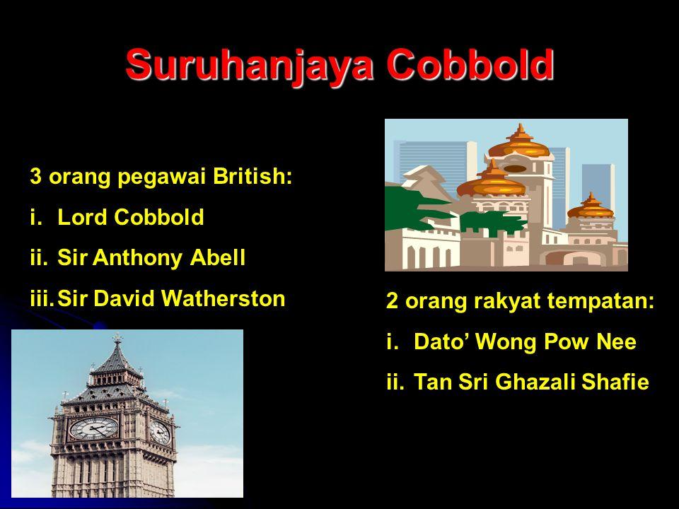 Suruhanjaya Cobbold 3 orang pegawai British: Lord Cobbold