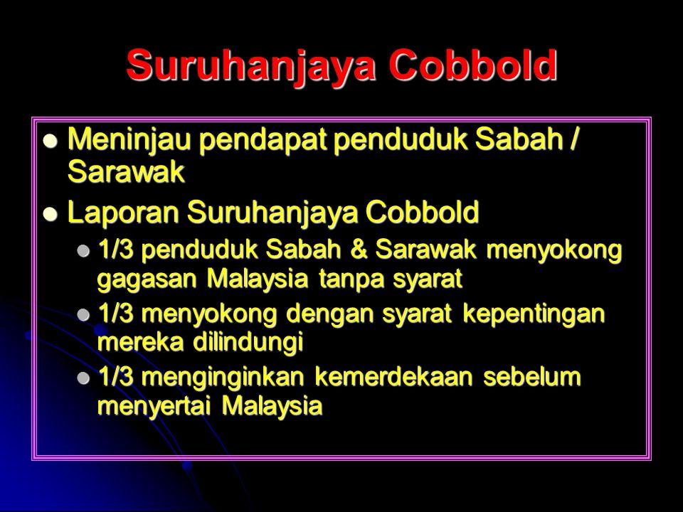 Suruhanjaya Cobbold Meninjau pendapat penduduk Sabah / Sarawak