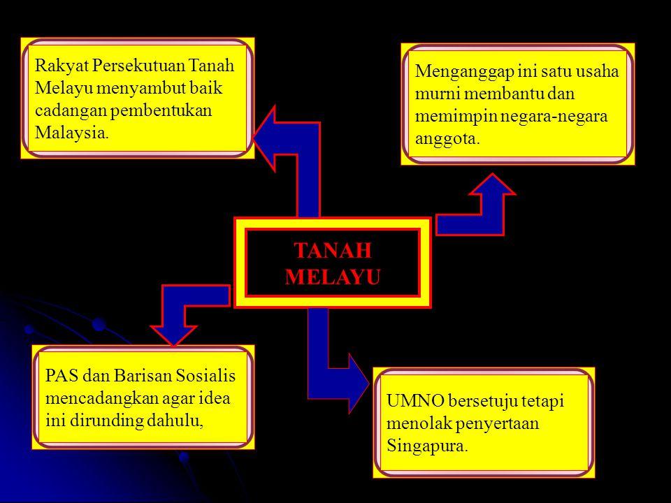 Rakyat Persekutuan Tanah Melayu menyambut baik cadangan pembentukan Malaysia.
