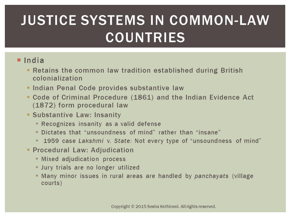 Justice Systems in Common-Law Countries