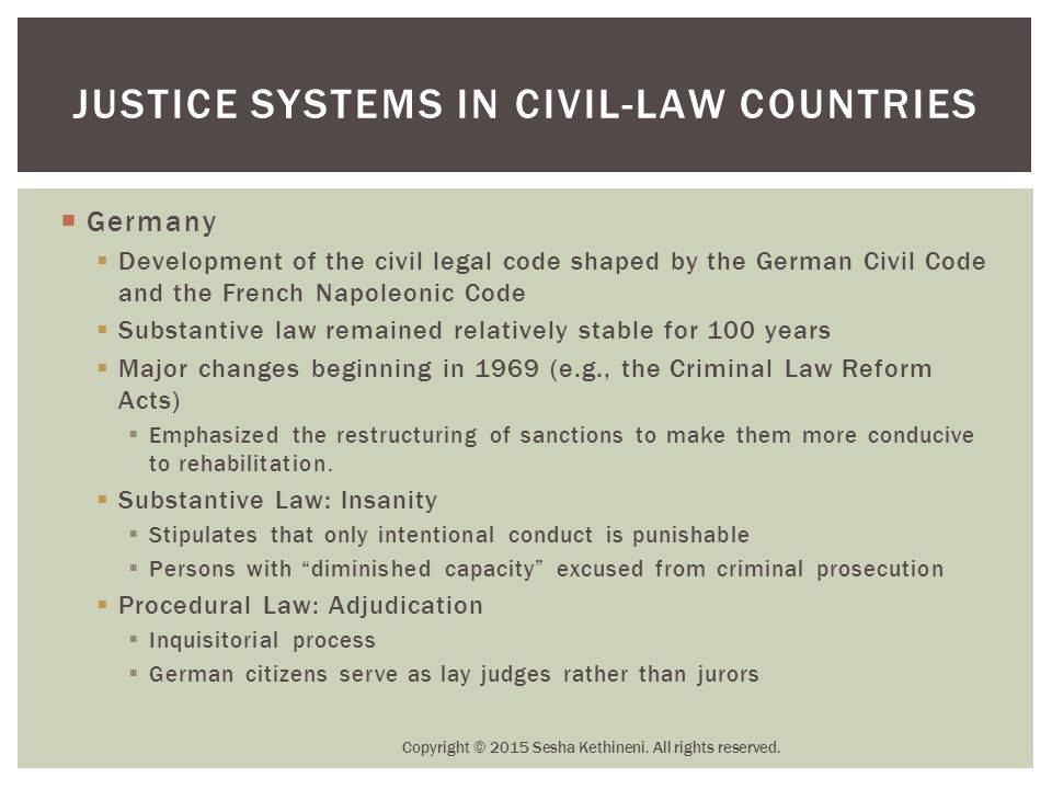 Justice Systems in Civil-Law Countries