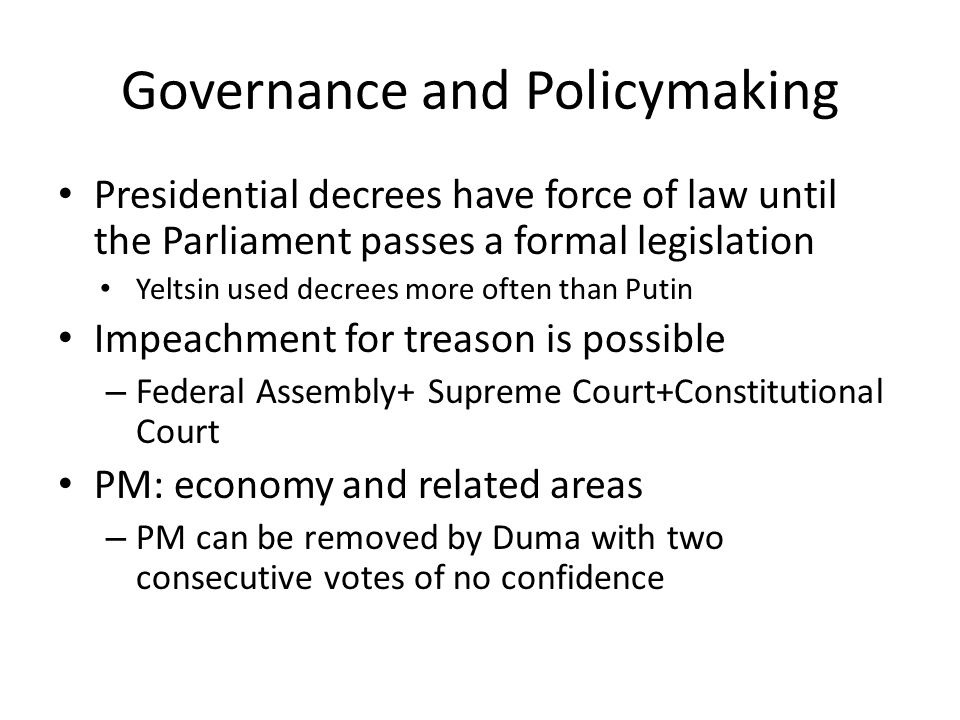 Governance and Policymaking