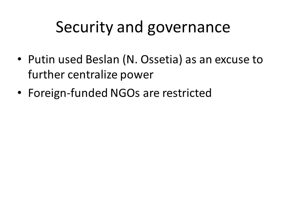 Security and governance