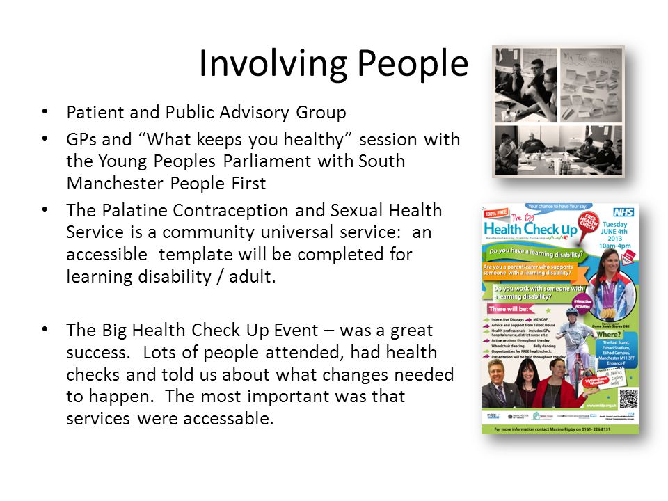 Involving People Patient and Public Advisory Group