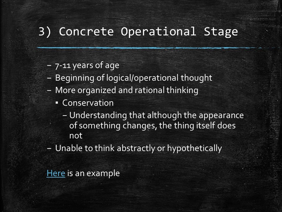 3) Concrete Operational Stage