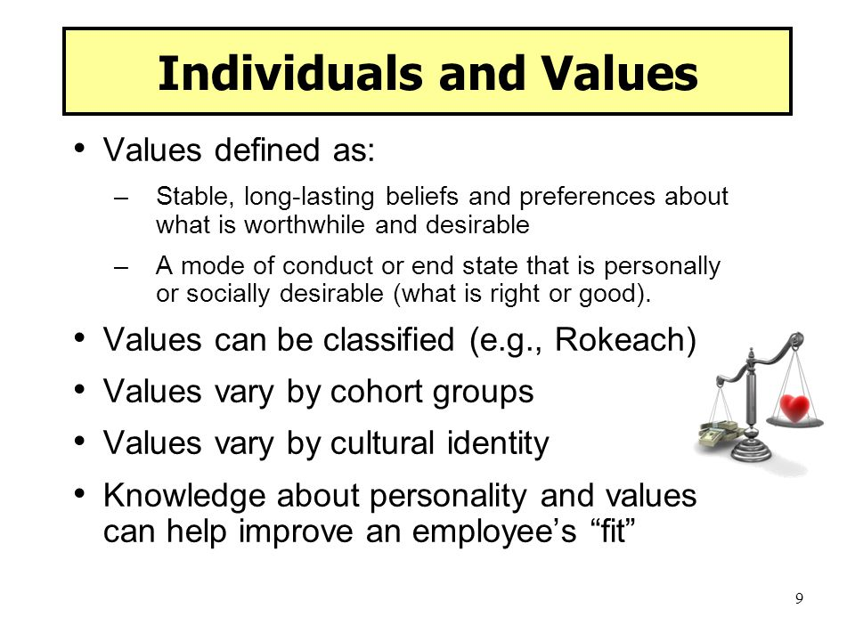 Individuals and Values