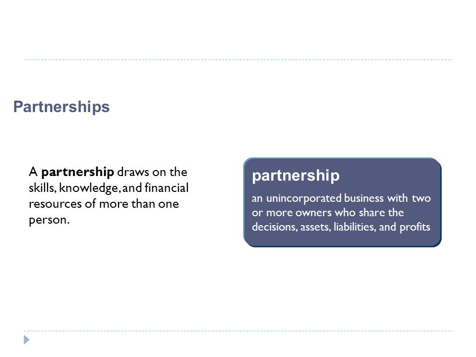 Partnerships partnership