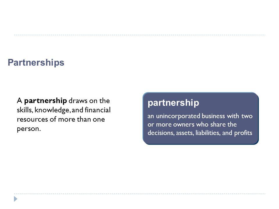 Partnerships partnership